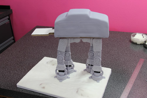 AT-AT cake progress