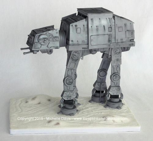 Star Wars 3-D AT-AT cake