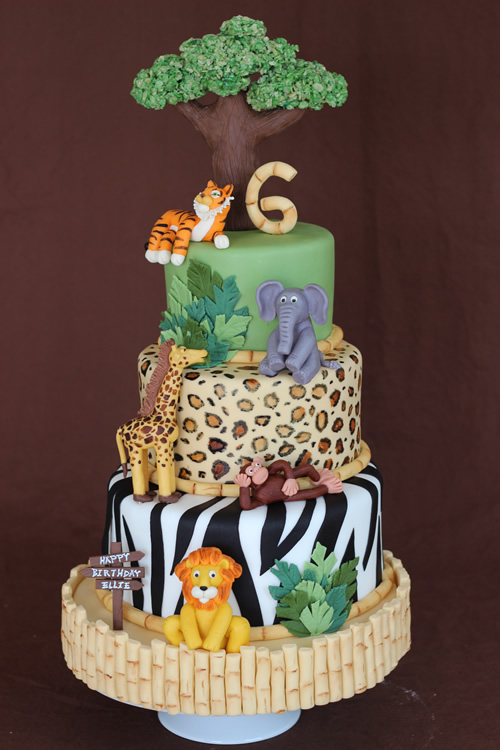Jungle Birthday Cake Images : How to Create a Safari Cake Sweet Dreams Cake App ...