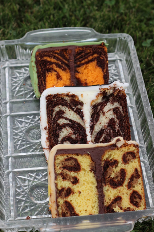Tiger zebra and leopard print cakes Sweet Dreams Cake App