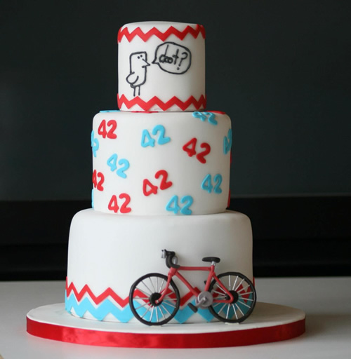 Birthday Cake Design For My Boyfriend : Anniversary cake with gumpaste bicycle Sweet Dreams Cake ...